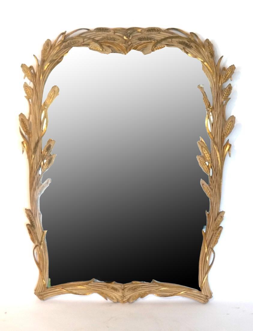 Classical Wheat Design Mirror