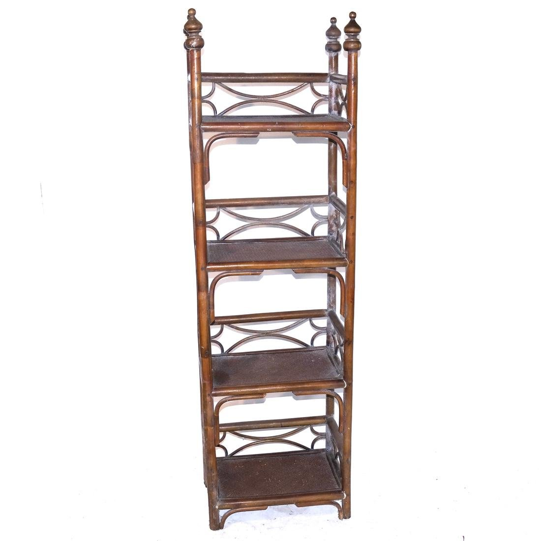 Four-Tier Faux Bamboo Etagere