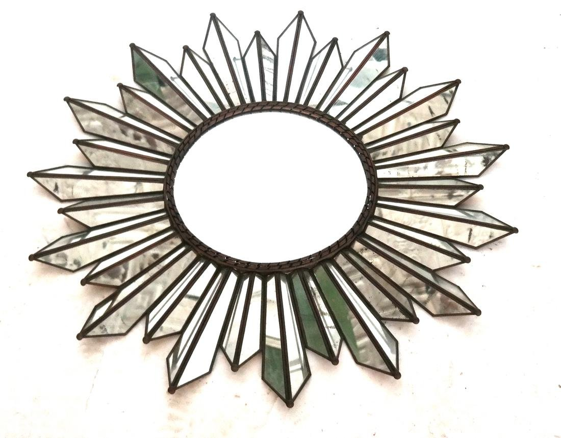 Modern Sunburst-Form Mirror