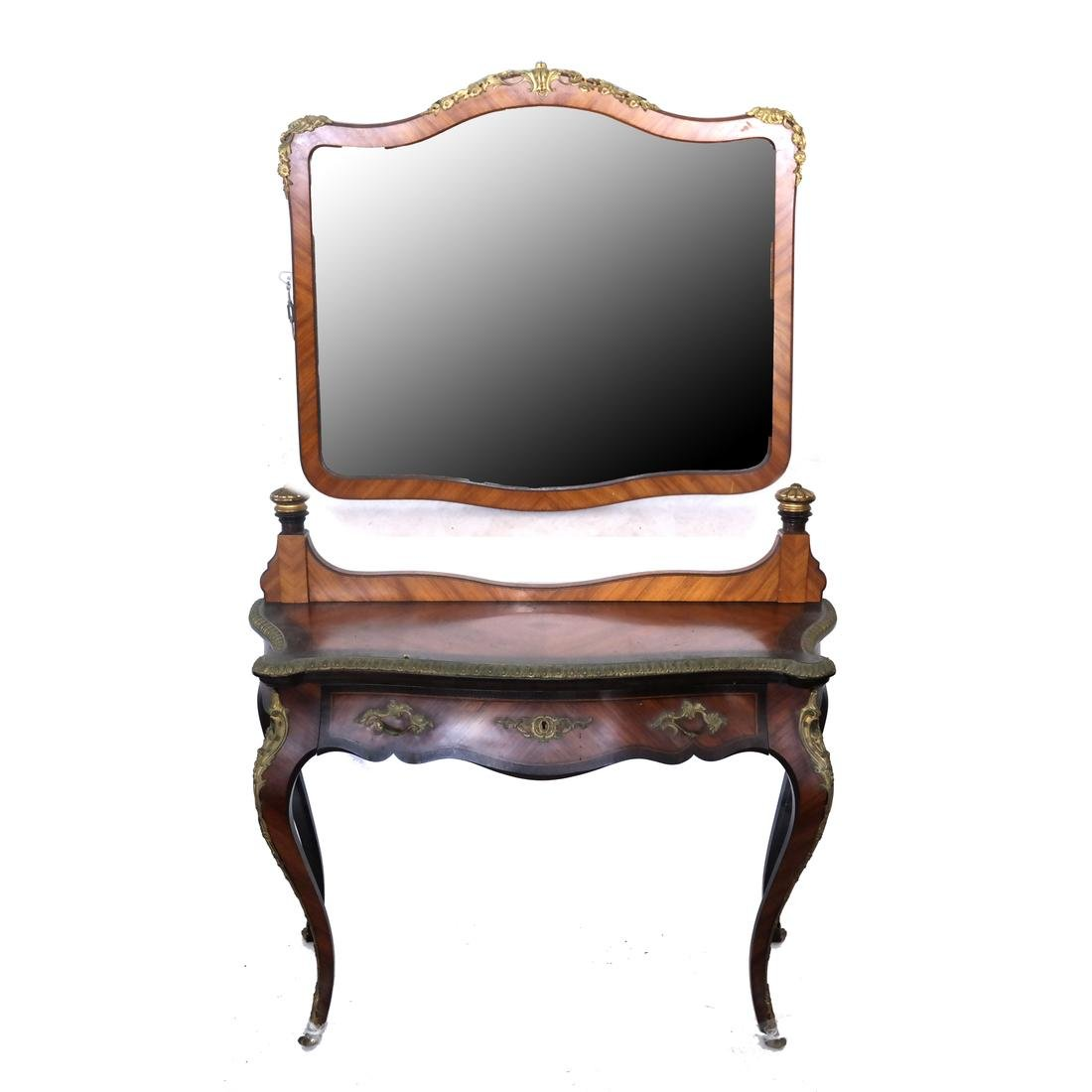 19th Century French Vanity and Mirror