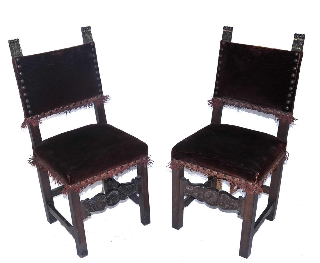 Pair of Renaissance-Style Side Chairs
