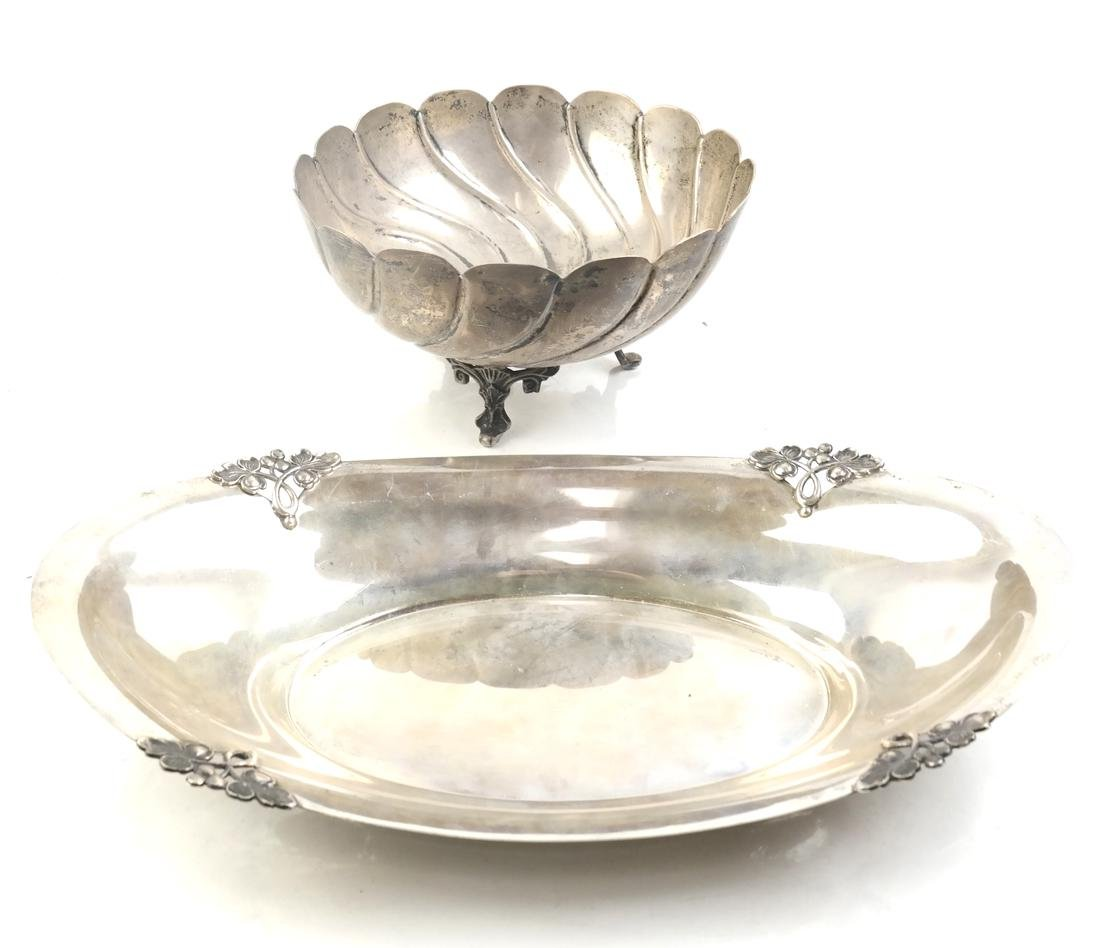 Sterling Silver Bowl and Tray