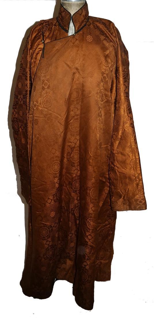 Chinese Silk Brocade Winter-Weight Robe