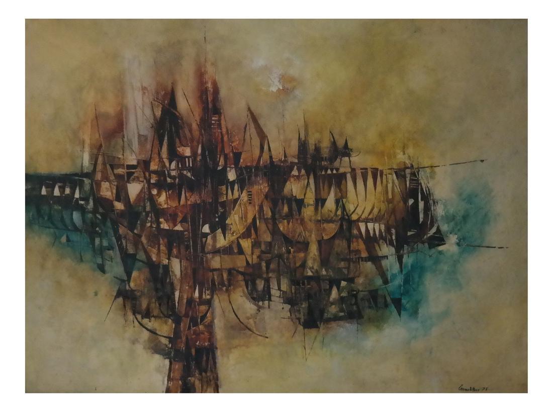 Frank Carmelitano (b. 1935)  Abstract Docked Ships, O/C