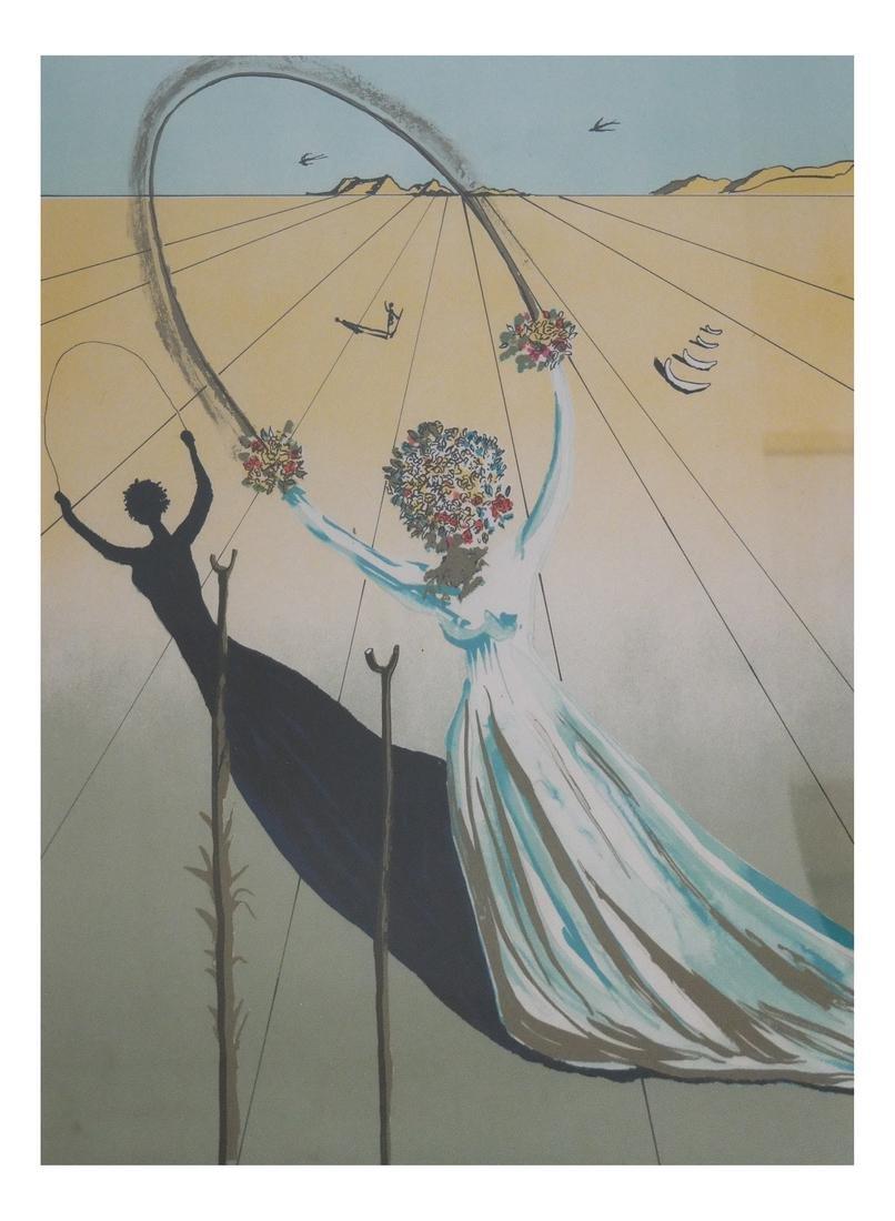 "Salvador Dali ""Alice In Wonderland"" Print, #224/700"