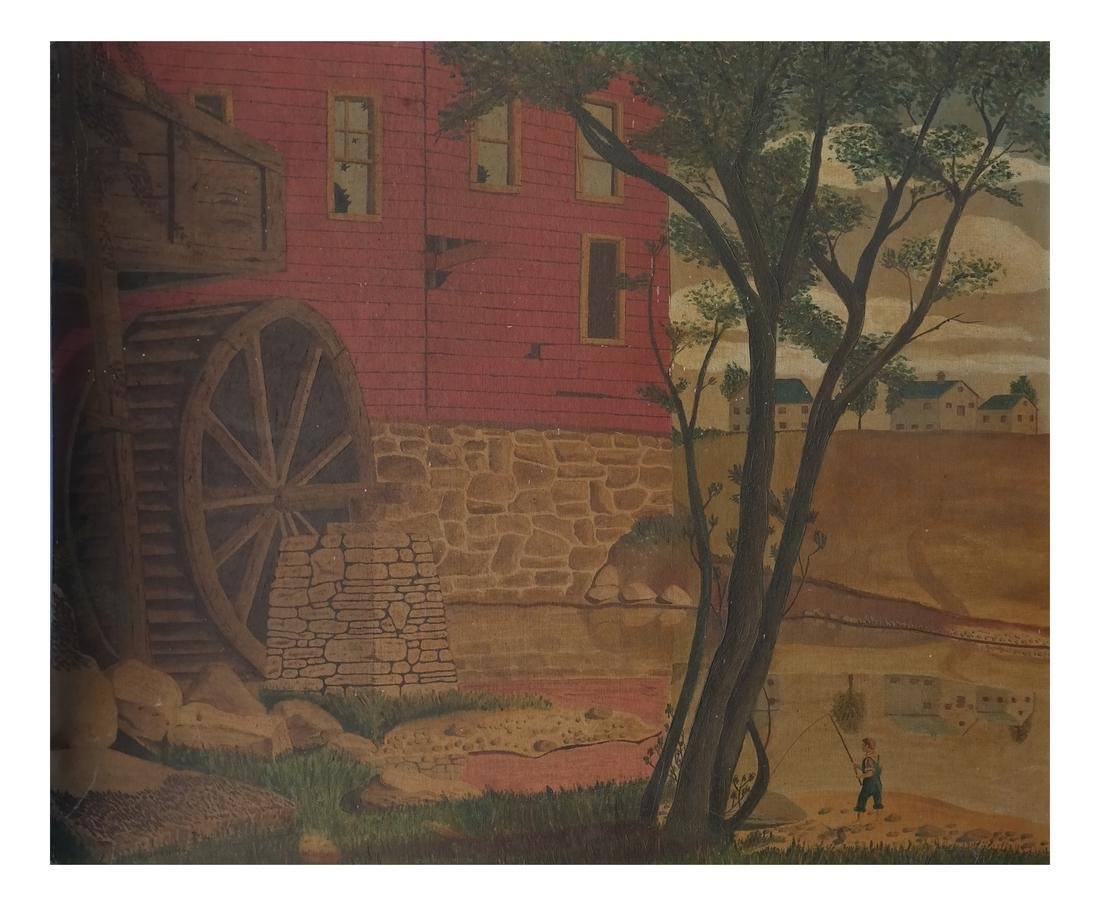 G. Dennis - Rural Farm Scene, Unframed Acrylic on Board