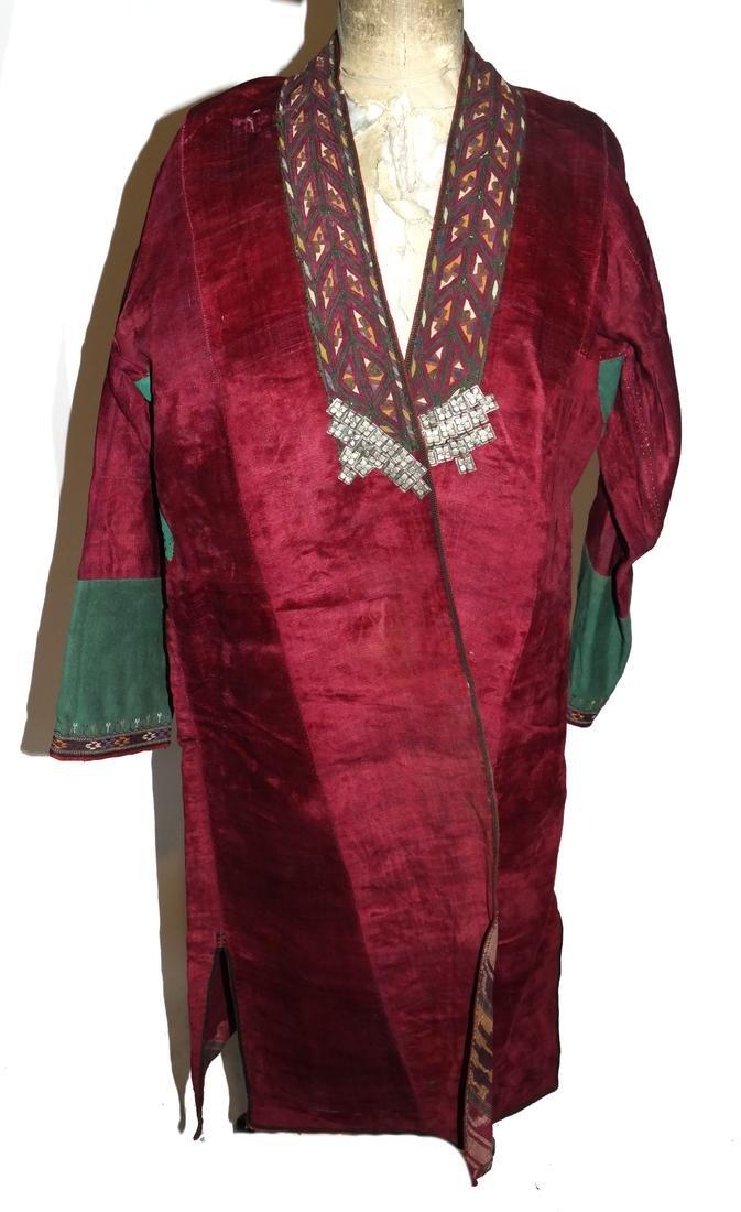 Antique Central Asian Veloured Men's Robe