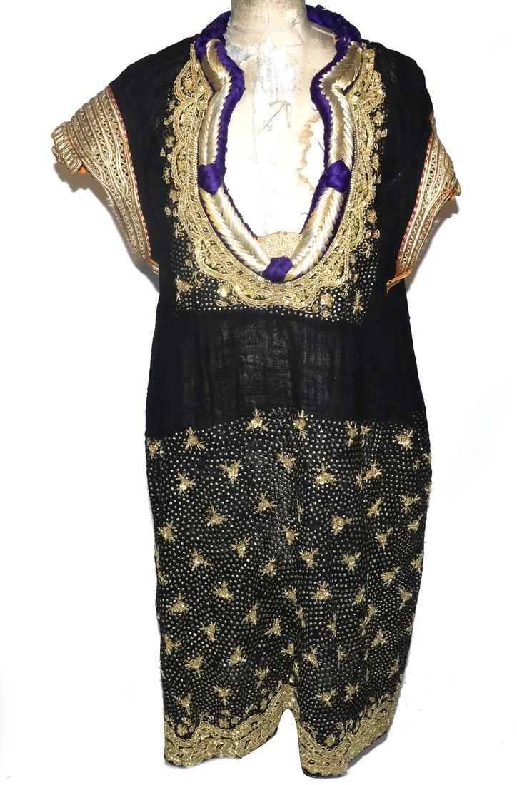 Arabian Black Gauze Wedding Dress, Late 20th Century