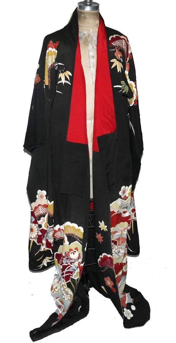 Art Deco Japanese Silk Brocade Kimono