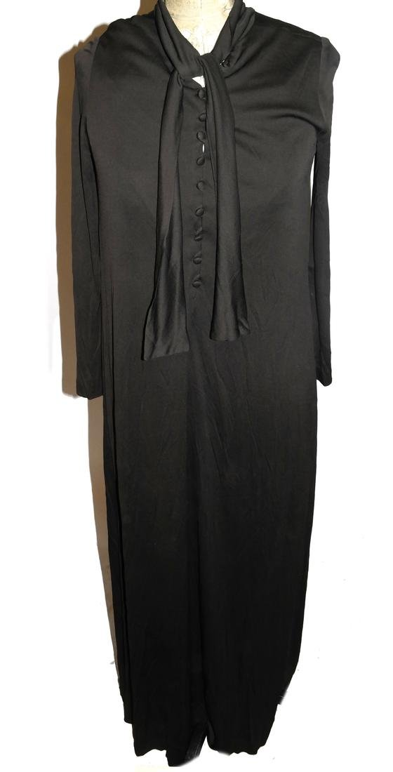 Pedro Rodrigues Brown Silk Jersey Dress, 1980s