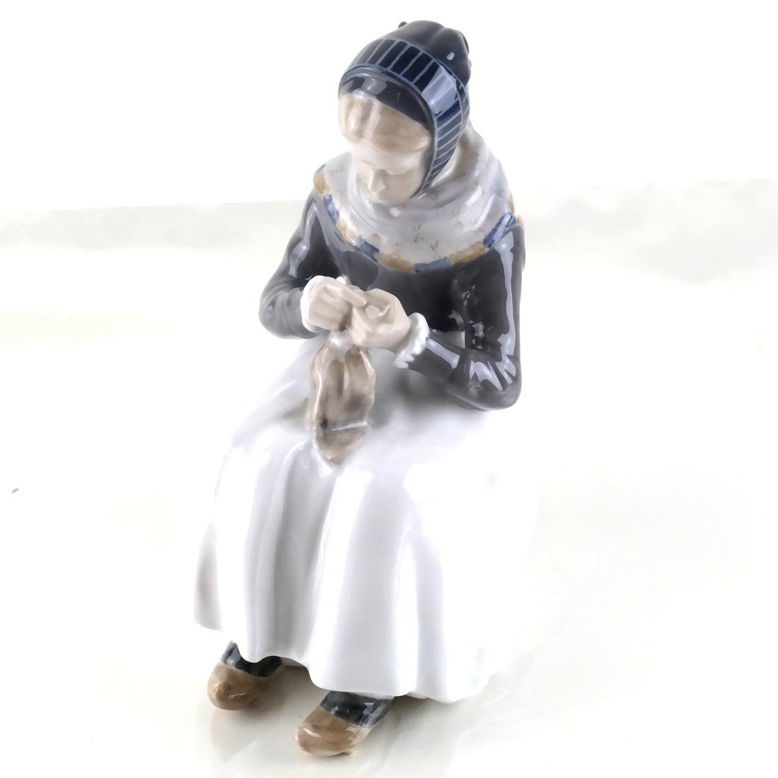 Royal Copenhagen Figurine, Girl With Duck