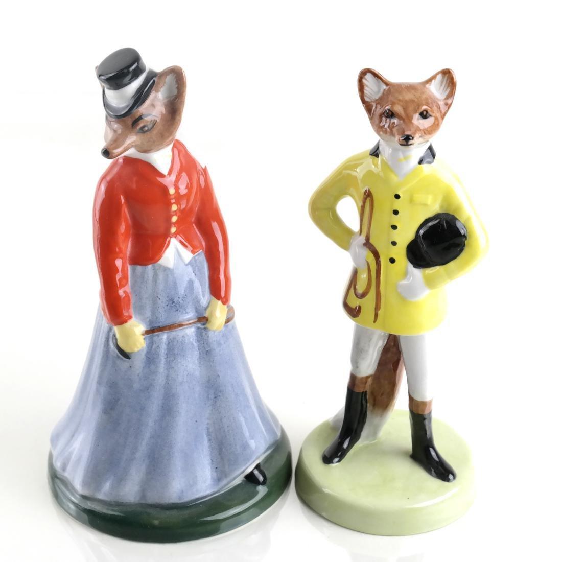 Gray's China, England - Two Fox Figurines