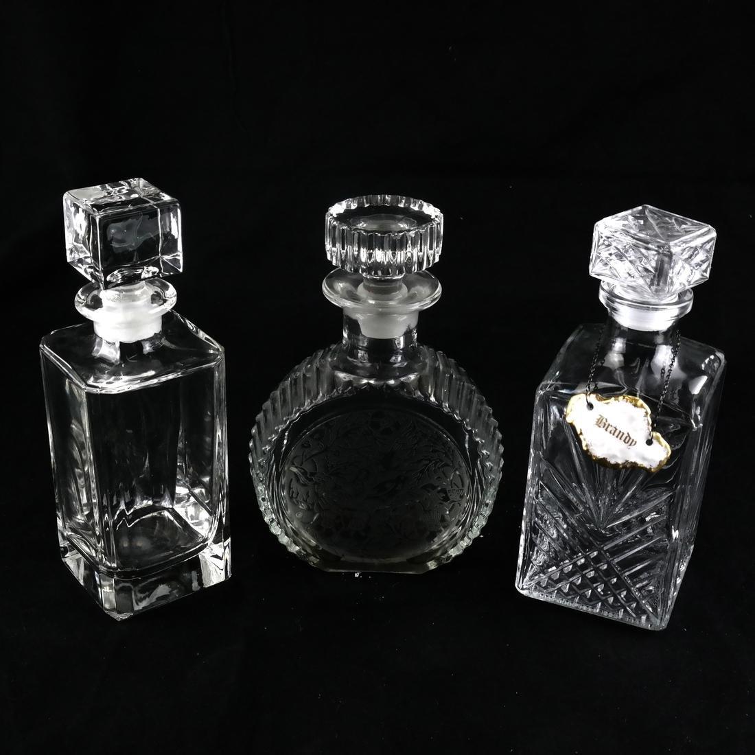 Three Glass Decanters