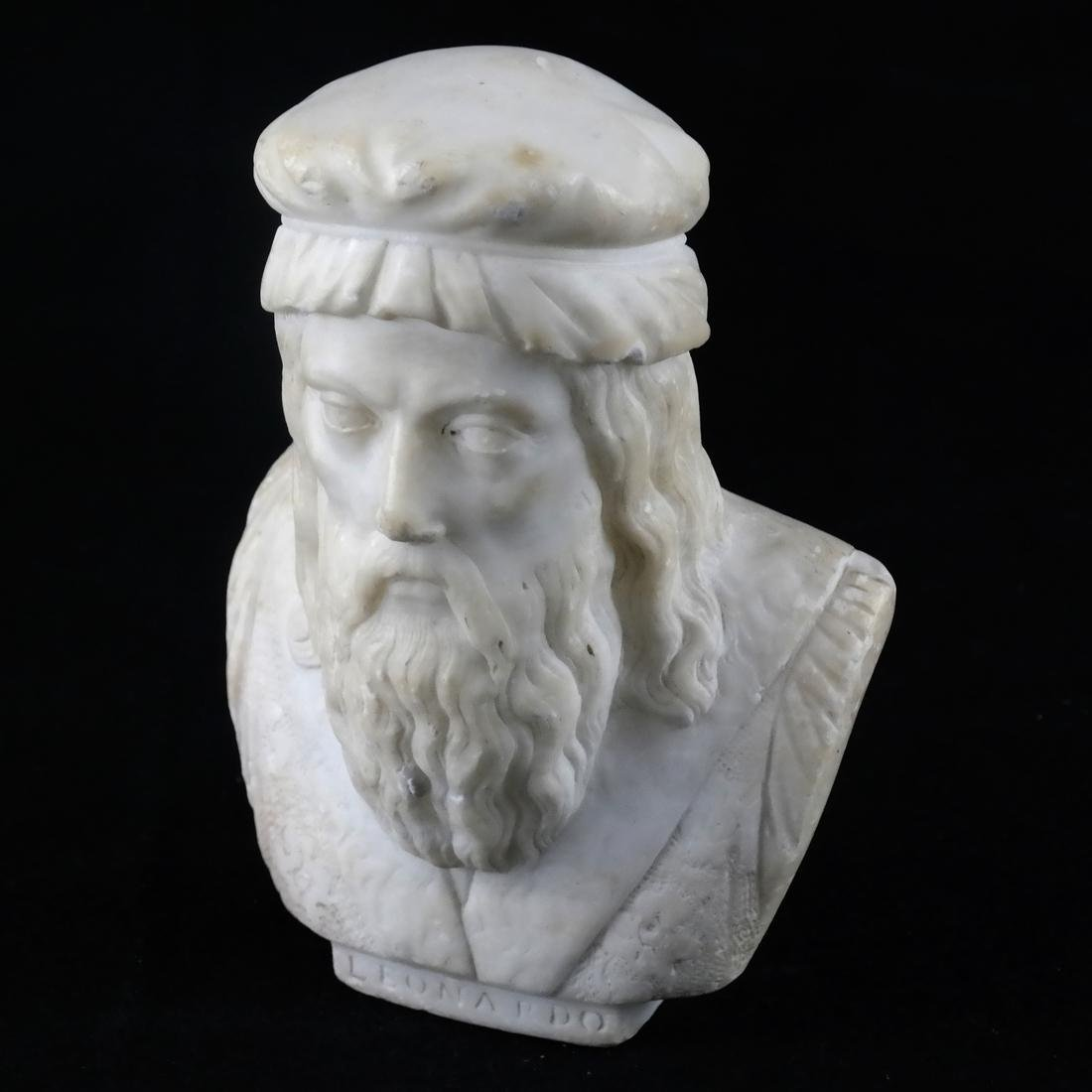 Miniature Marble Sculpture of a Bearded Man