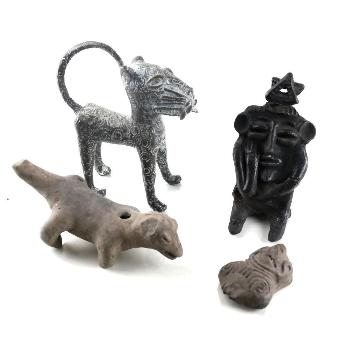 Four Ethnic Sculptures