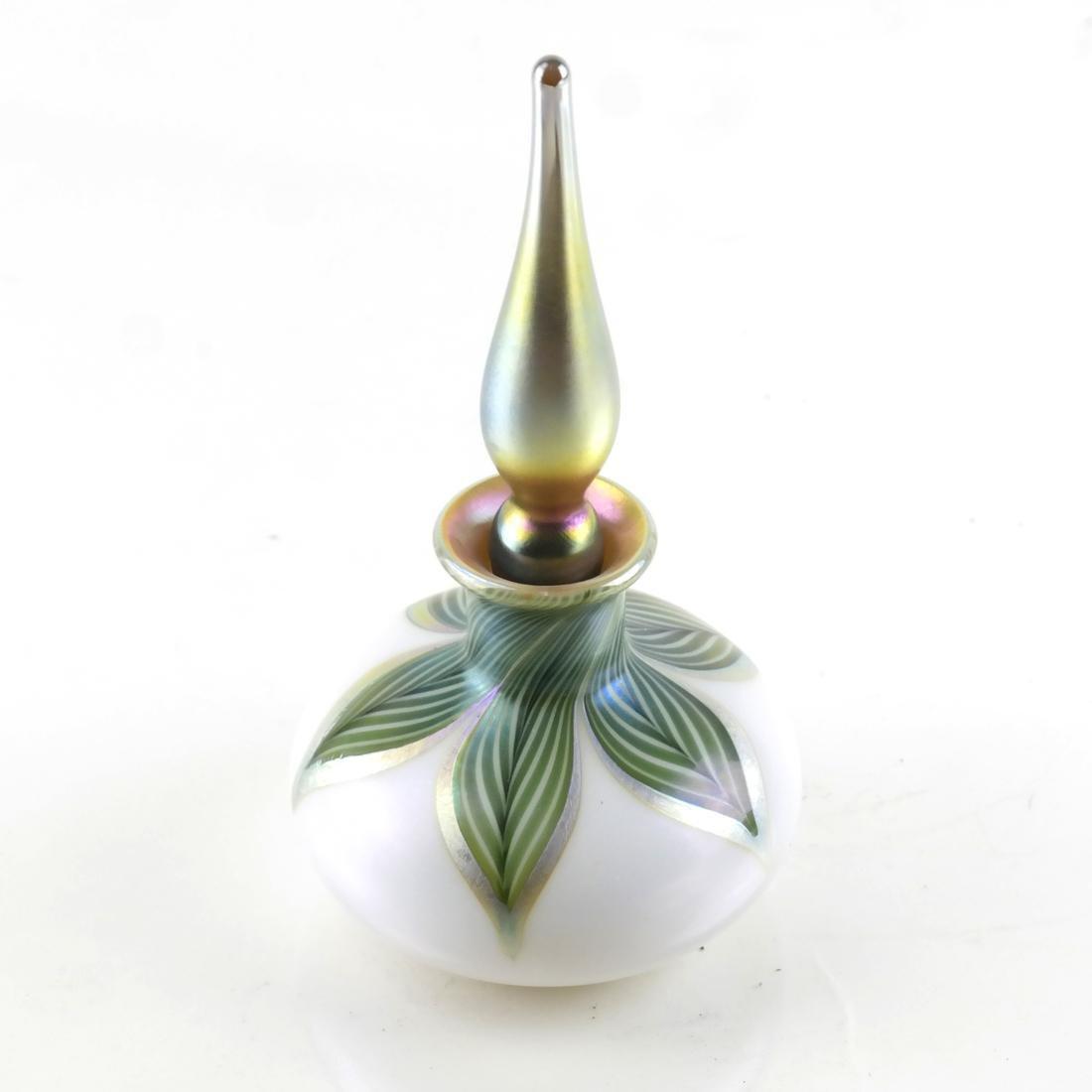 Lundberg Studios, Art Glass Scent Bottle with Stopper