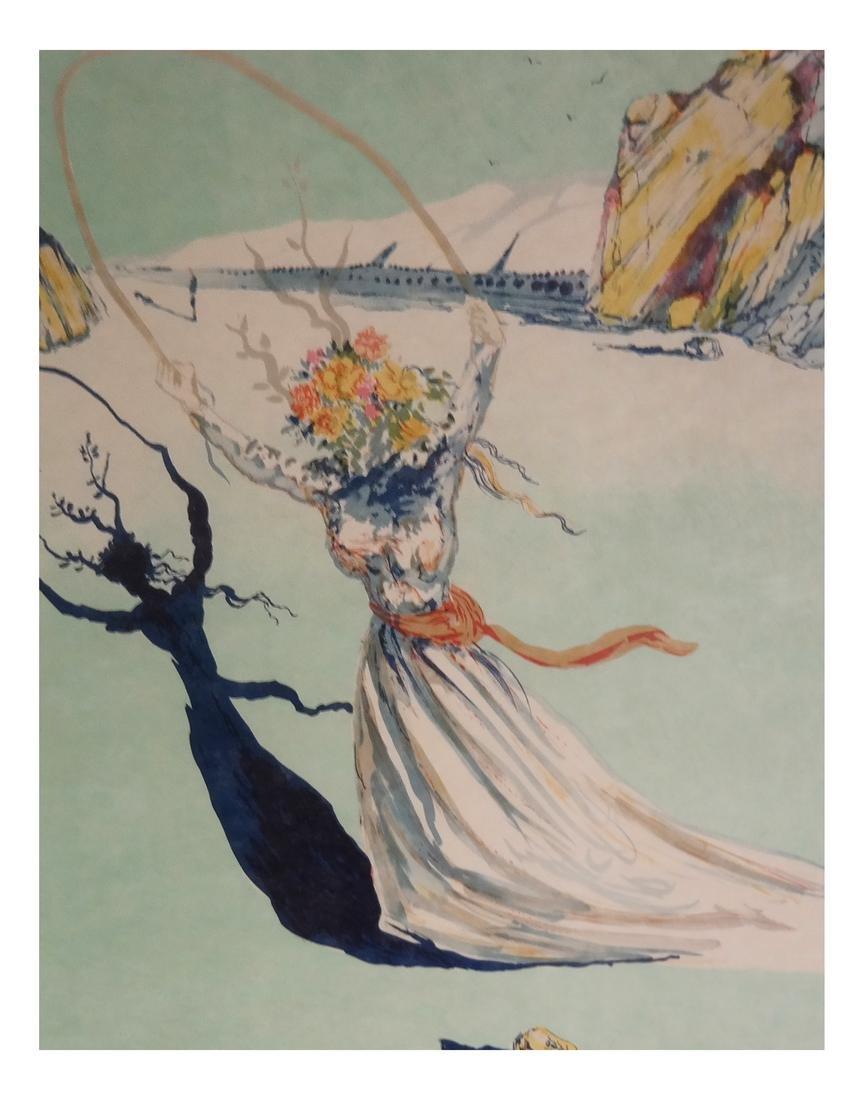 """Salvador Dali, """"Dream Passage"""" - Litho on Japon Paper"""