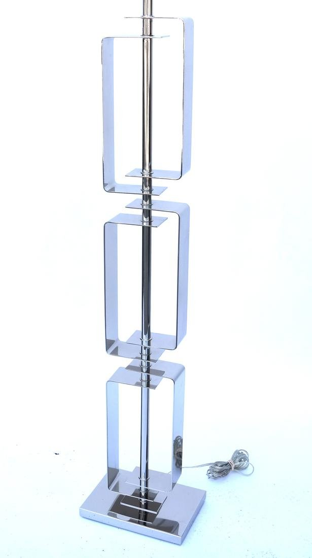 Contemporary Chrome Floor Lamp - 2