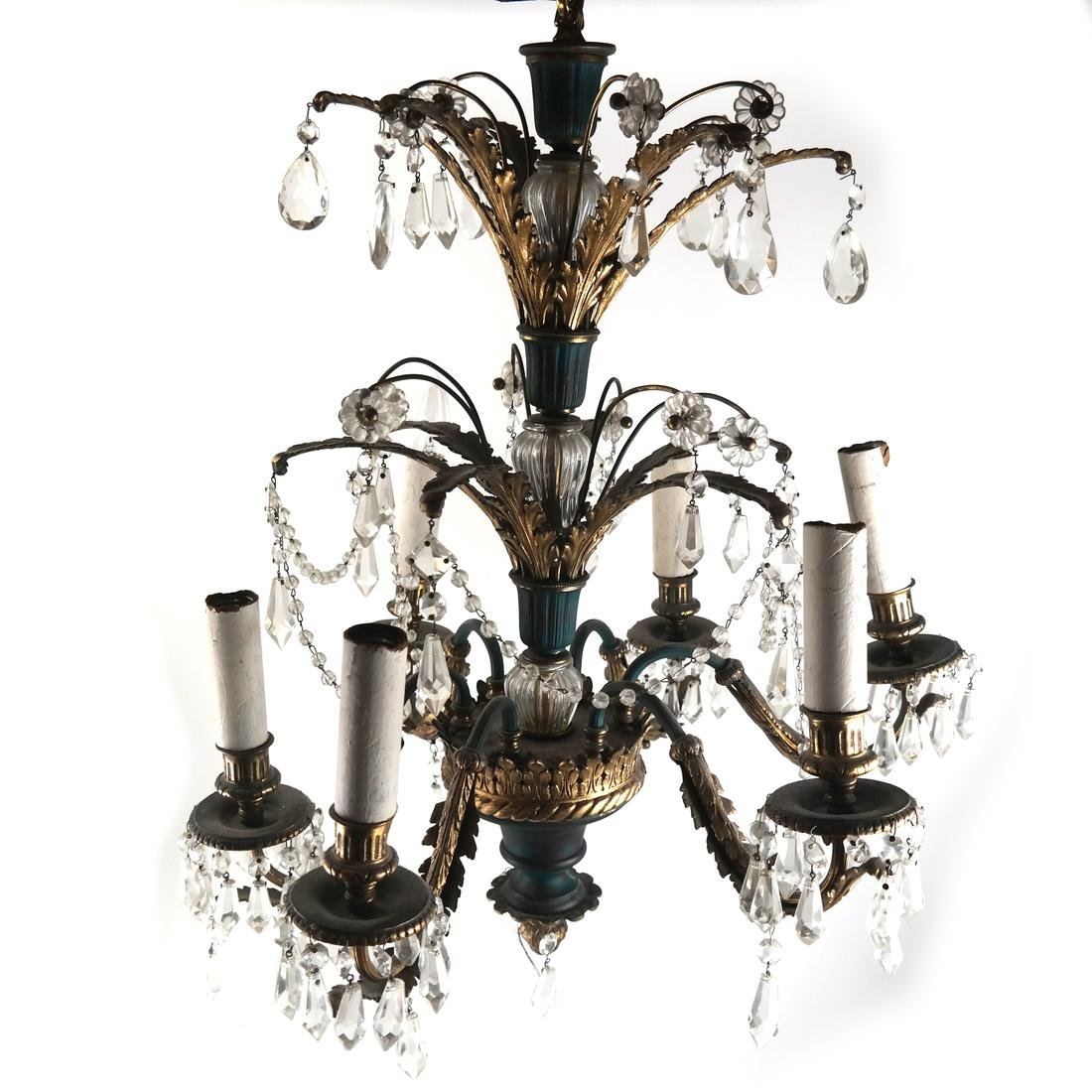 French Bronze Decorated Chandelier