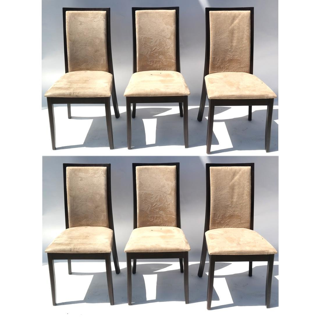 Mid-Century Modern Suite of 6 Chairs