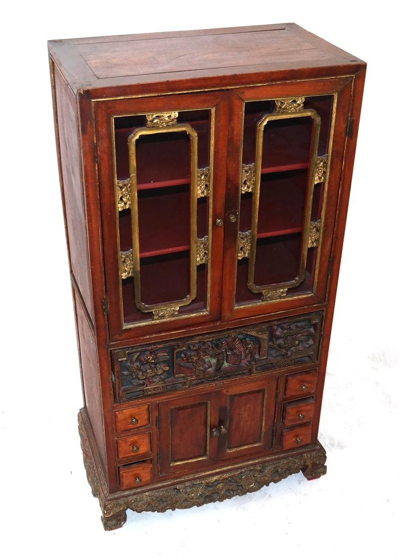 Antique Chinese Carved Spice Cabinet