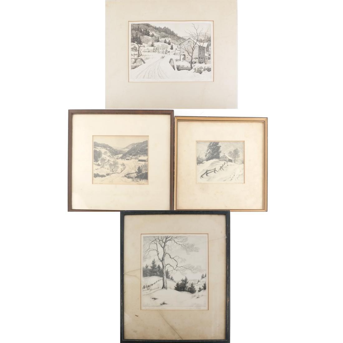 Ronau William Woiceske, Three Etchings