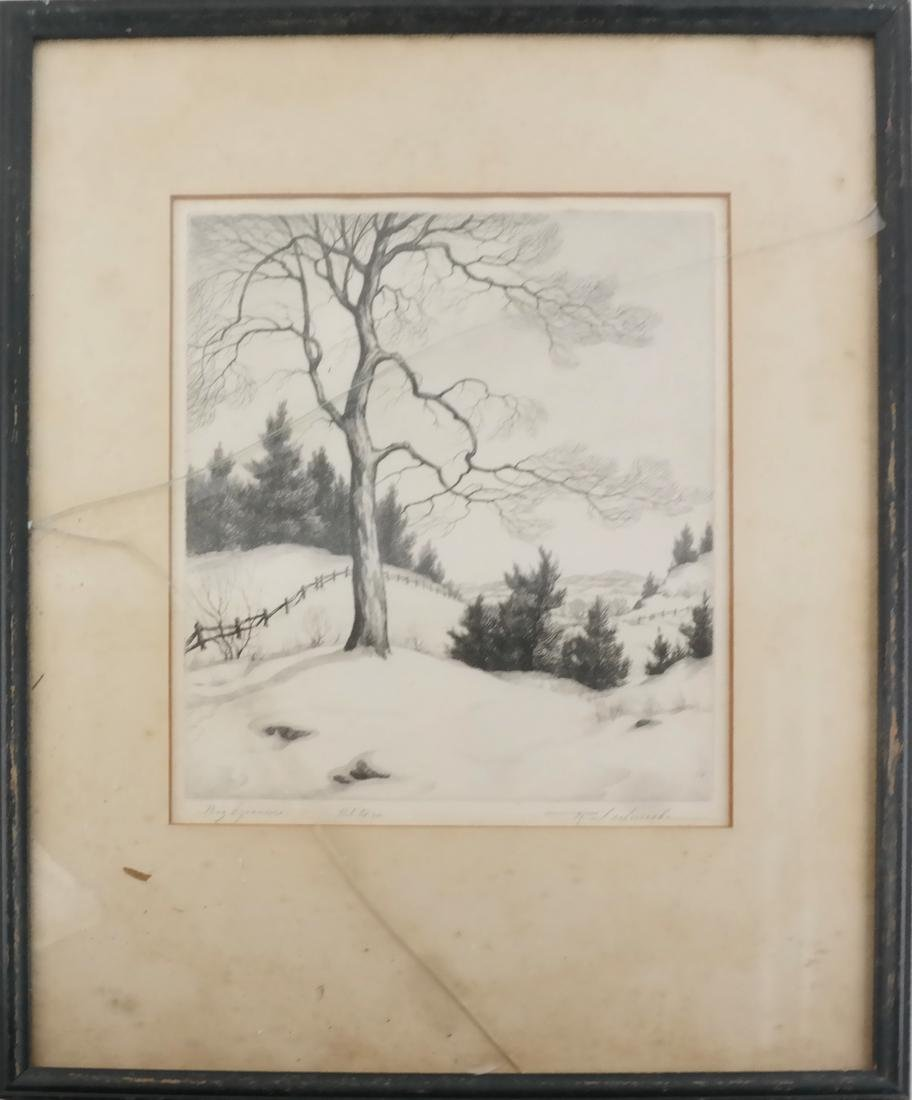 Ronau William Woiceske, Three Etchings - 4