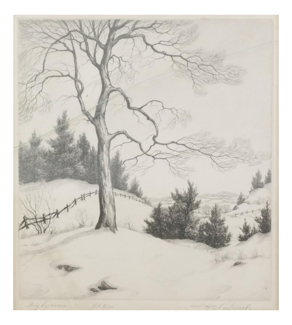 Ronau William Woiceske, Three Etchings - 5