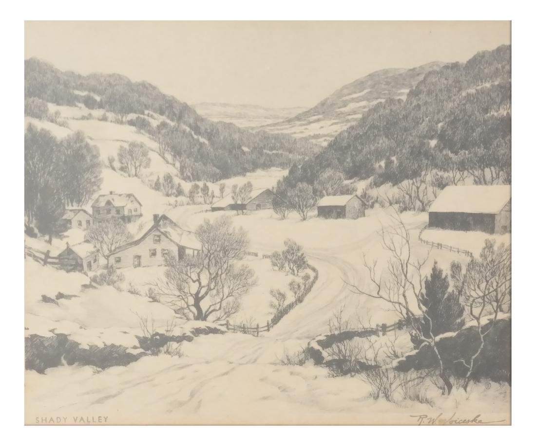Ronau William Woiceske, Three Etchings - 7