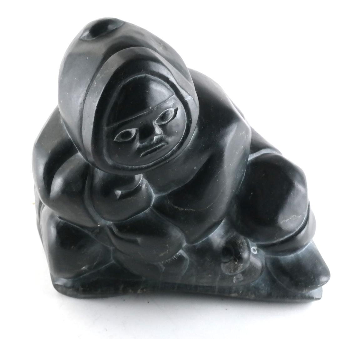 Inuit Soapstone Carved Figure