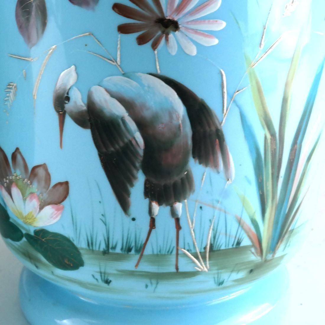 Pair of Victorian Bristol Glass Vases - 2