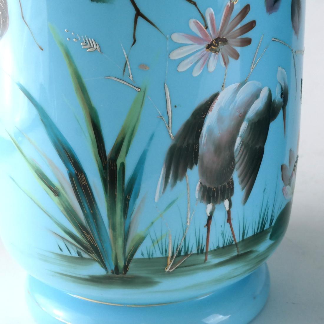 Pair of Victorian Bristol Glass Vases - 3