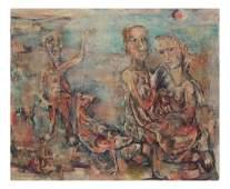 Modernist Figures, Oil on Canvas