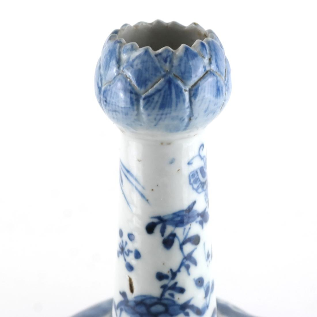 Chinese Porcelain Blue/White Tulip Vase - 2