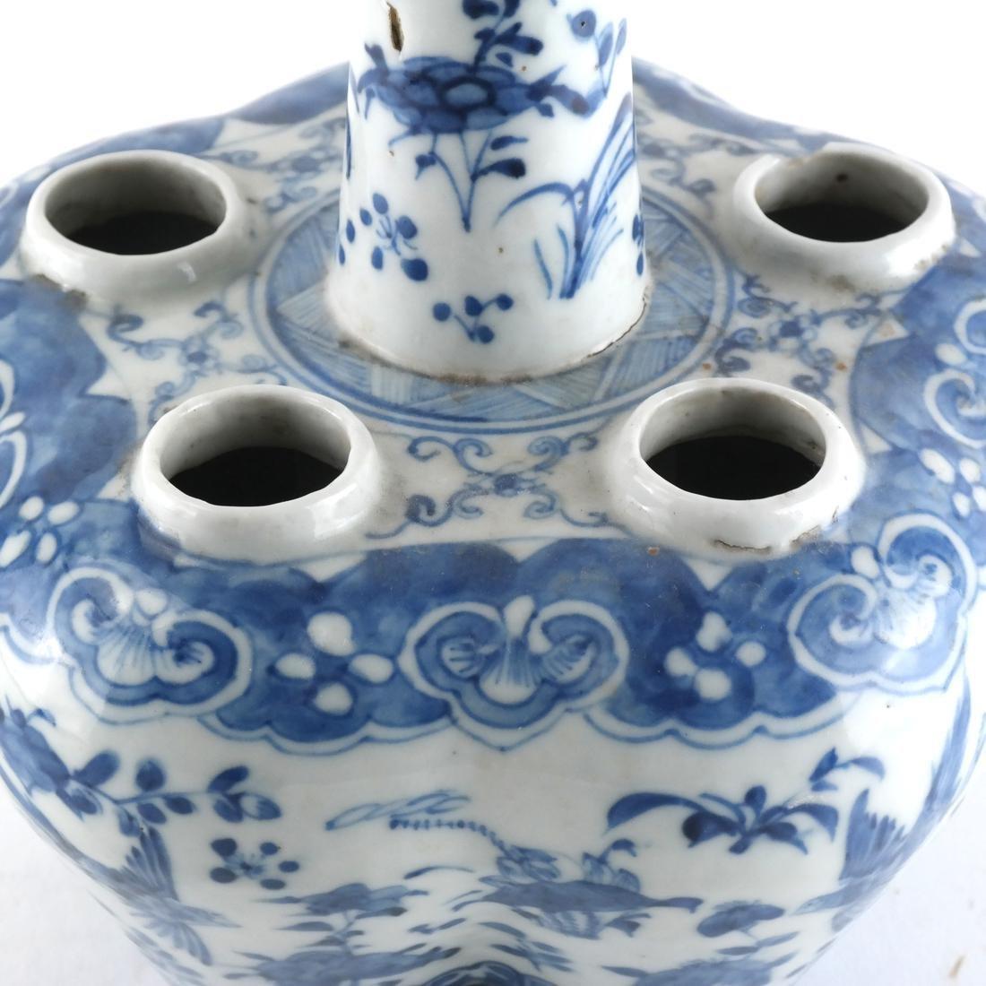 Chinese Porcelain Blue/White Tulip Vase - 3