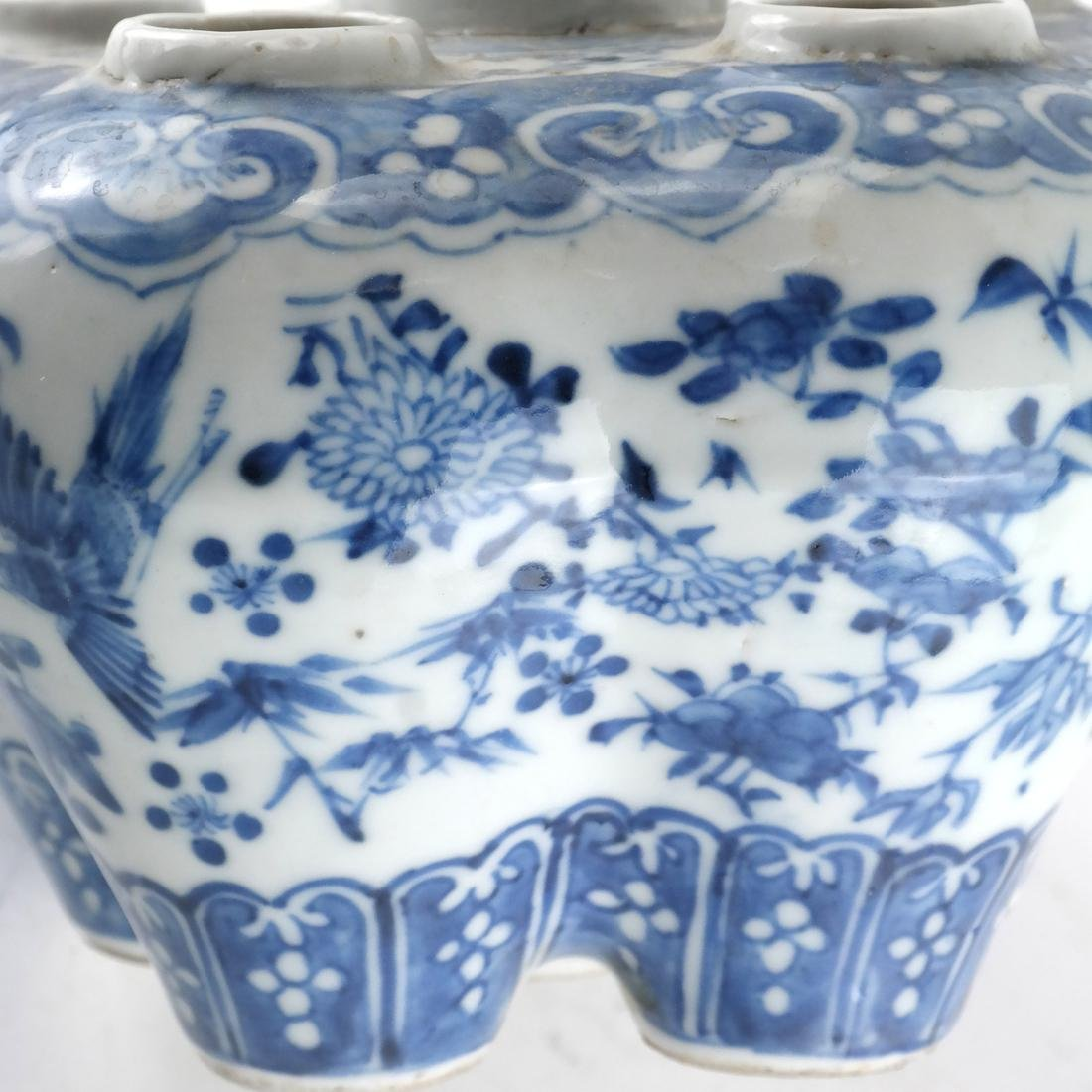 Chinese Porcelain Blue/White Tulip Vase - 4
