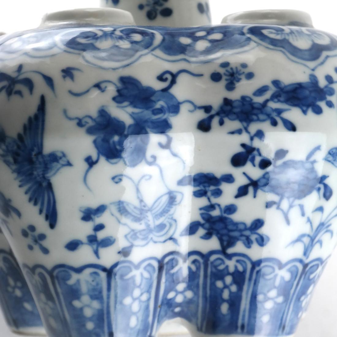 Chinese Porcelain Blue/White Tulip Vase - 6