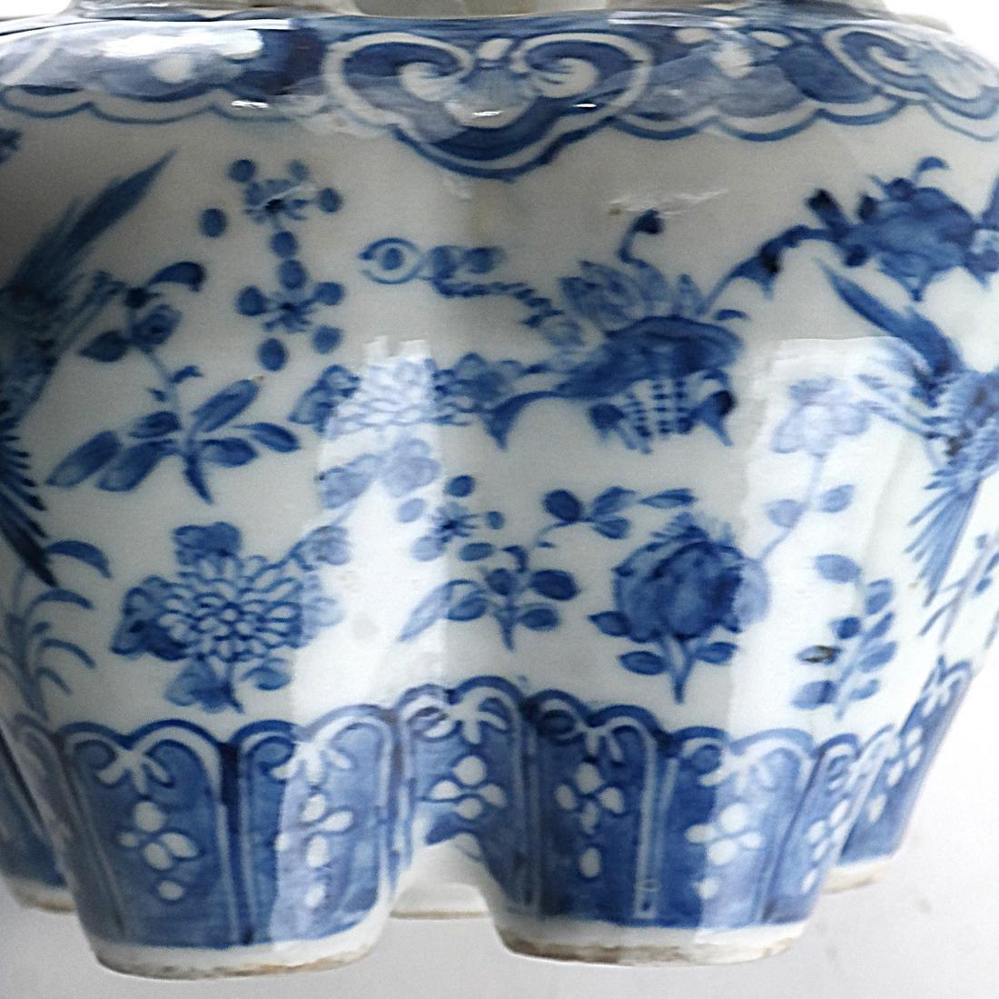 Chinese Porcelain Blue/White Tulip Vase - 7