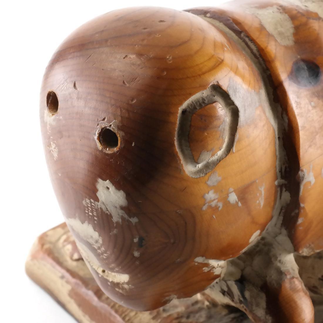 Folk Art Carved Wood Sculpture - 2