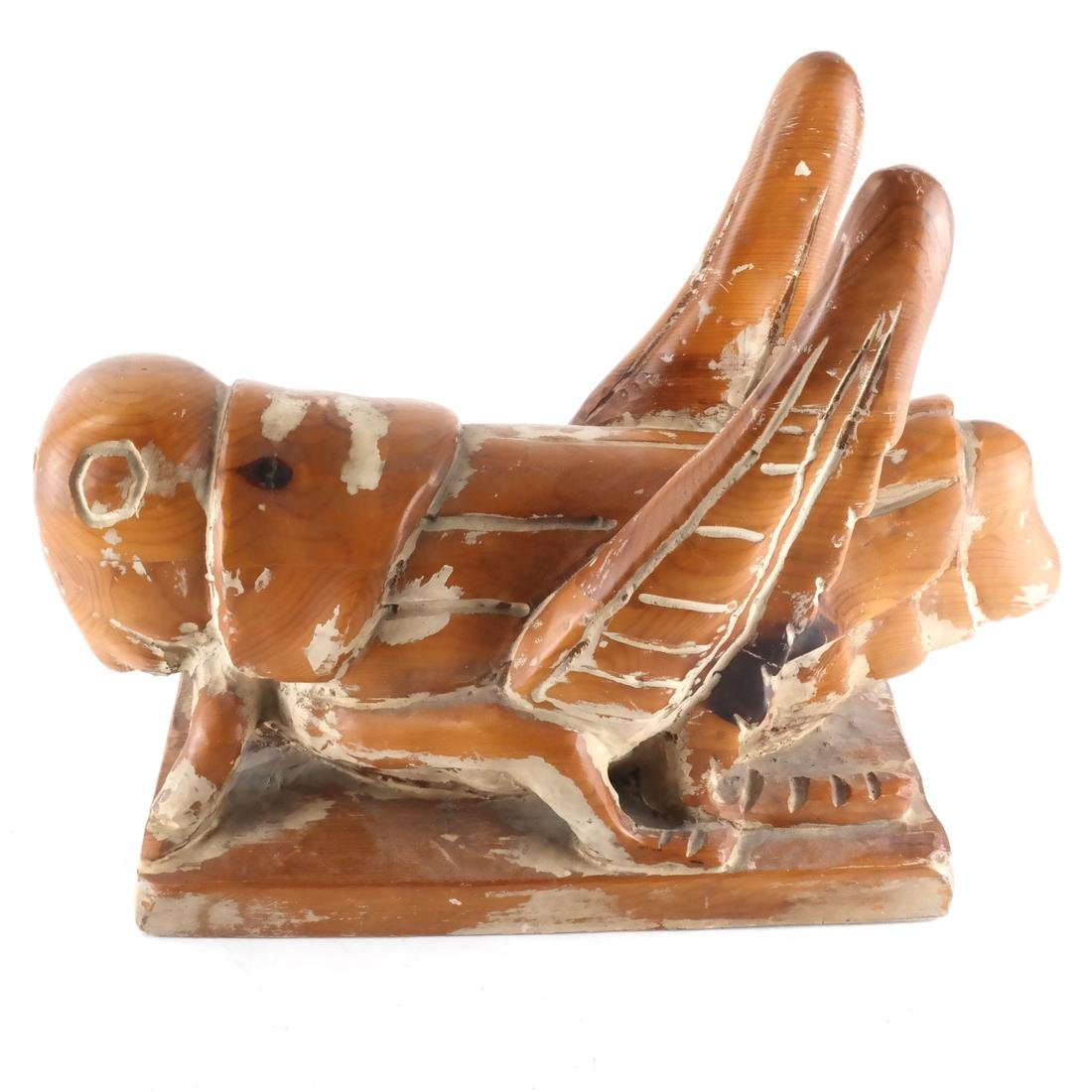 Folk Art Carved Wood Sculpture - 3