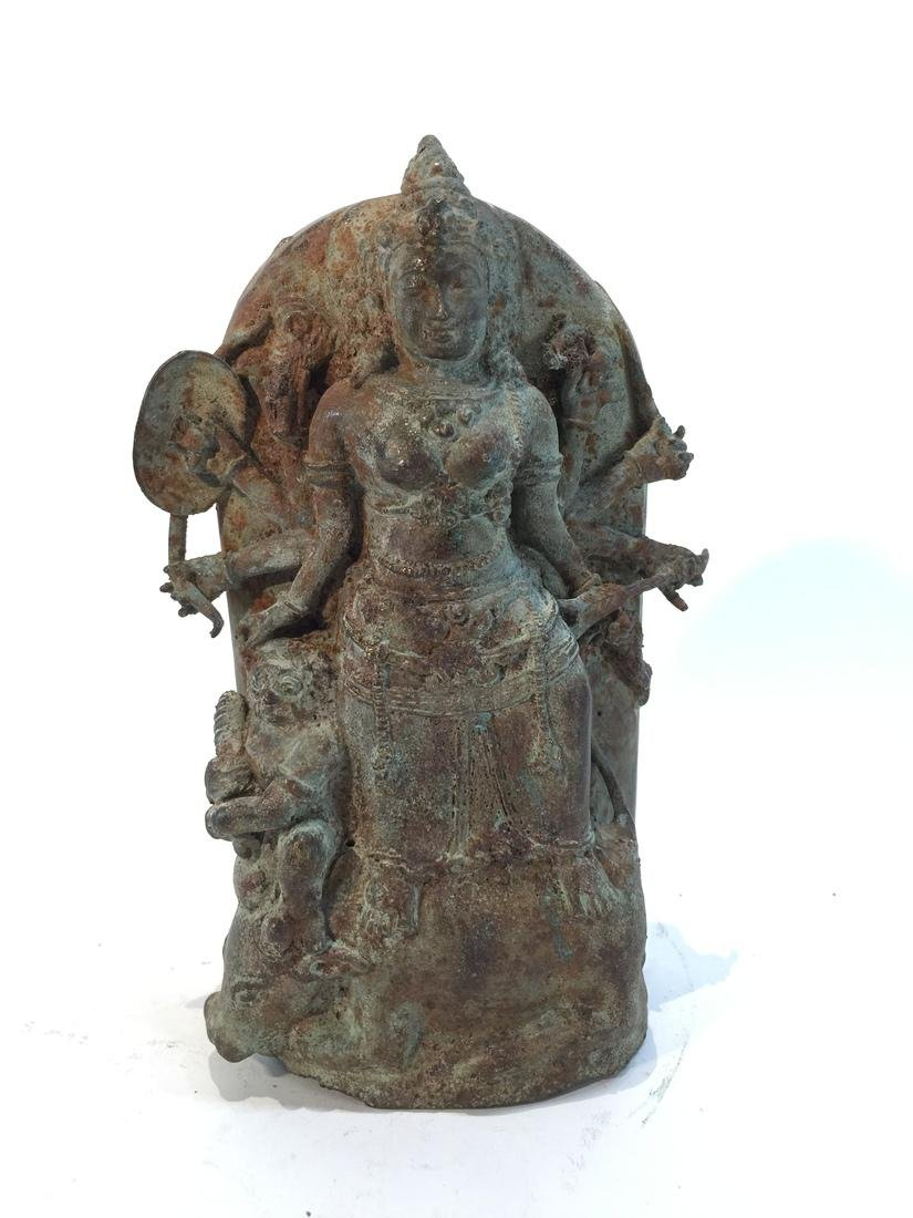 Asian Sculpture of Buddha with Attendant