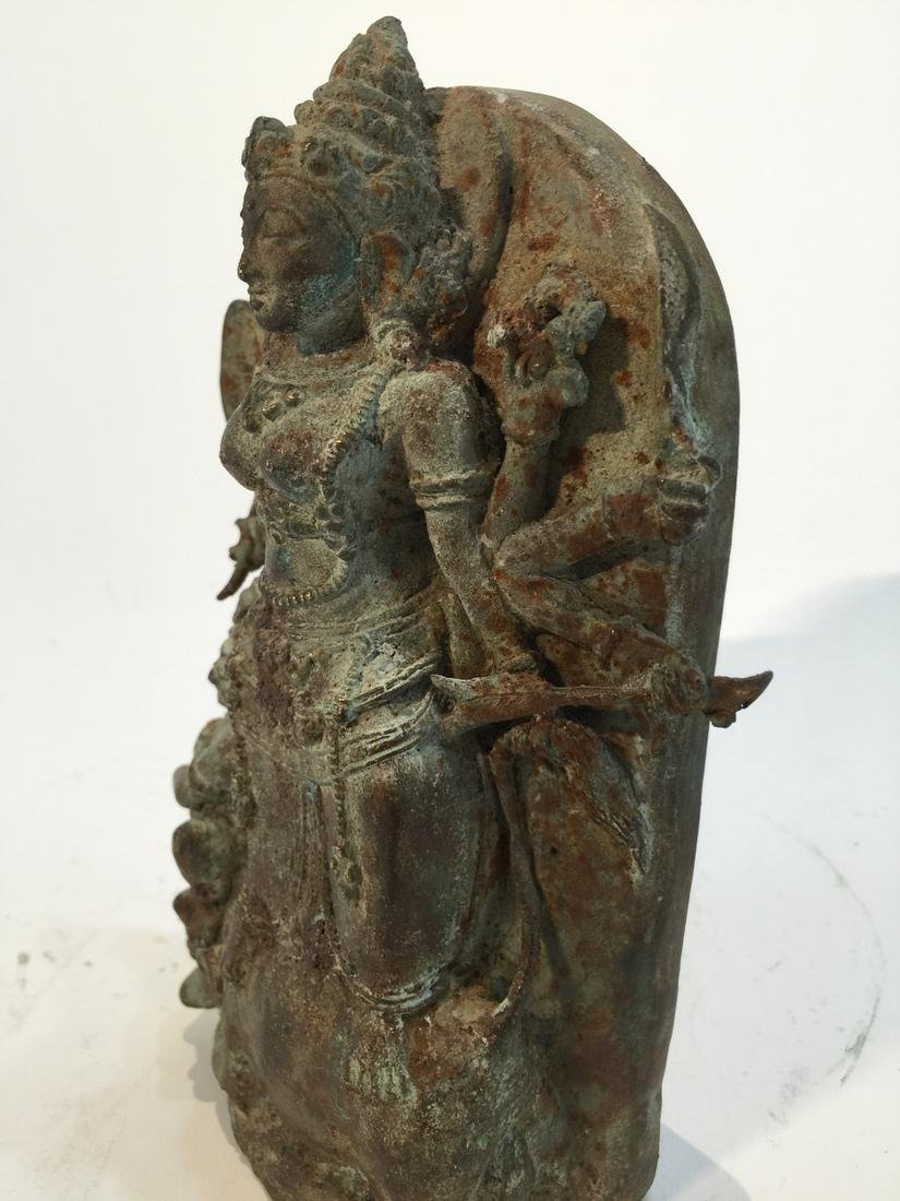 Asian Sculpture of Buddha with Attendant - 4