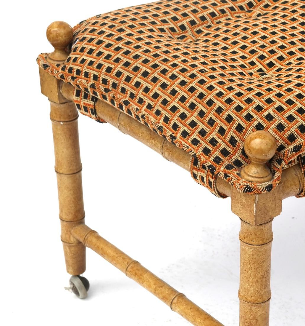 Pair of Faux Bamboo-Style Benches - 4