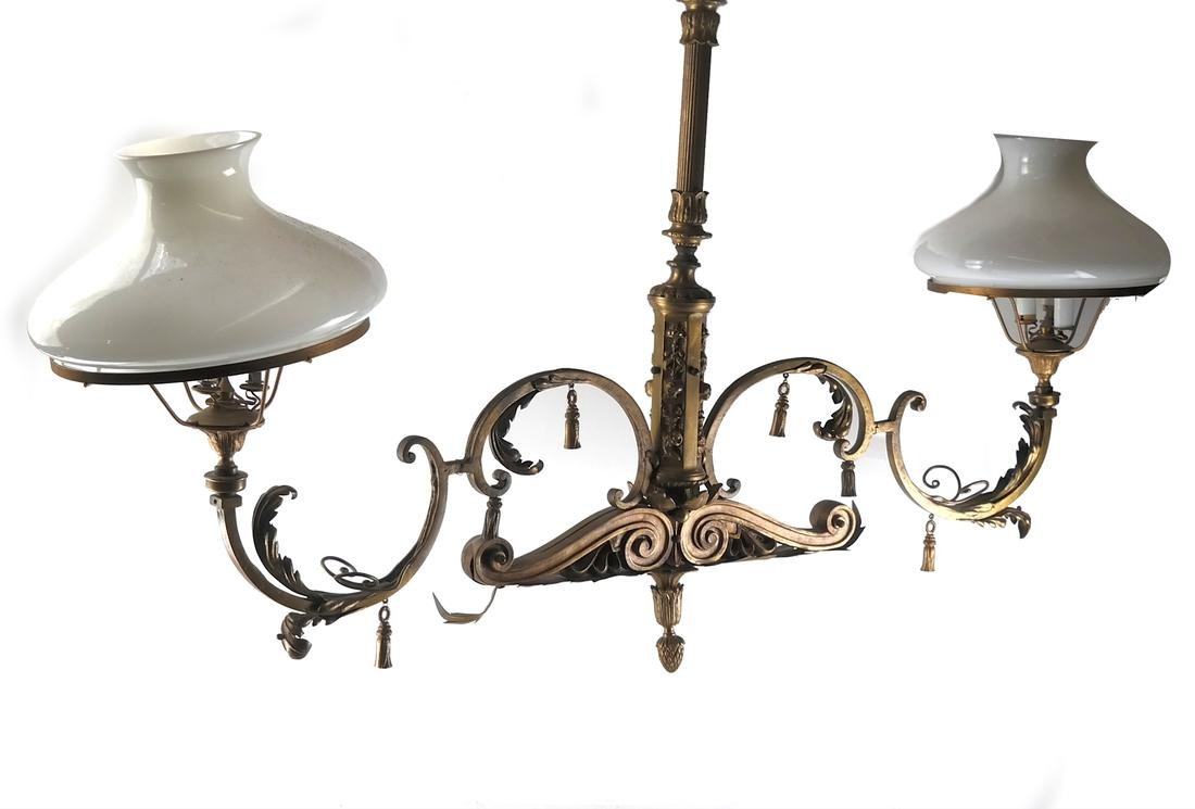 French-Style 2-Light Billiards Fixture