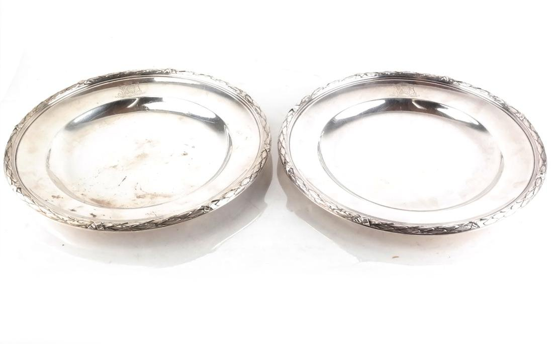 Pair of French Silver Serving Dishes