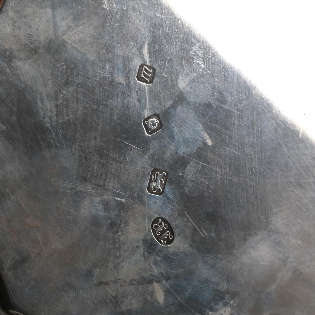 English Birmingham Silver Salver/Footed Tray - 4
