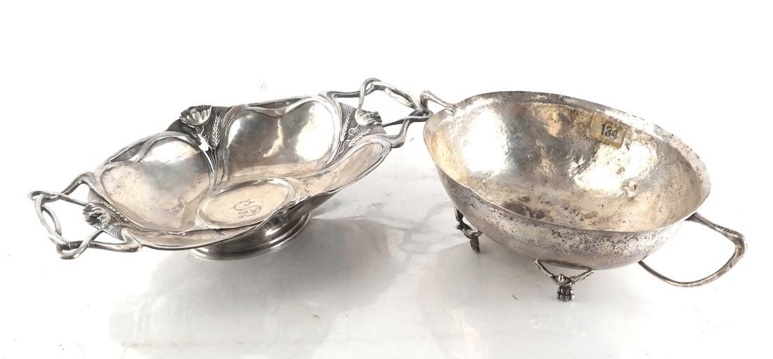Two Footed German Silver Baskets
