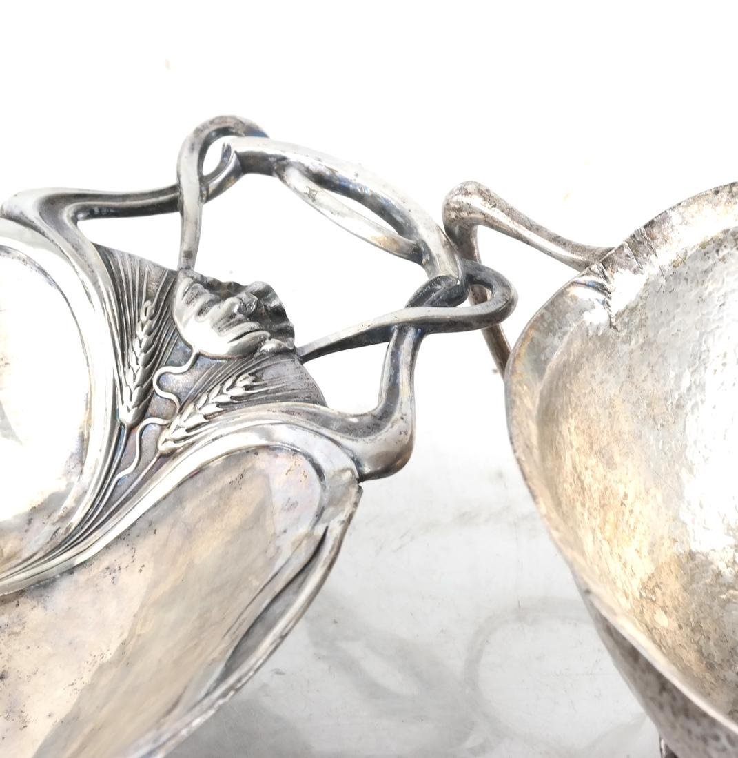 Two Footed German Silver Baskets - 2