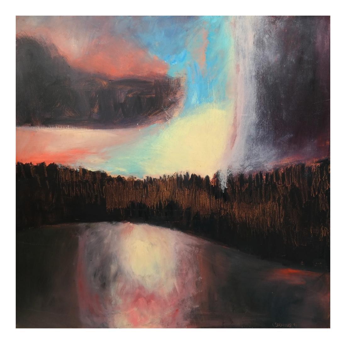 L. Salander O/C, Signed, Dated, 1991 - Sunrise