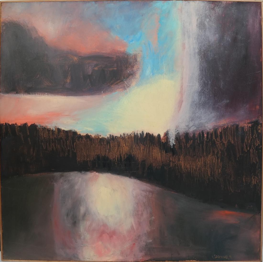 L. Salander O/C, Signed, Dated, 1991 - Sunrise - 2